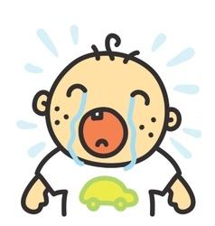 Cartoon crying baisolated vector