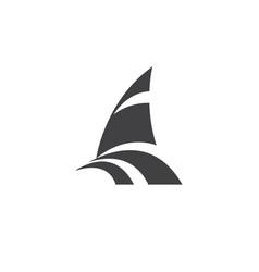 catamaran logo - sailor boat yacht ship travel sea vector image