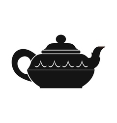 Chinese teapot icon simple style vector