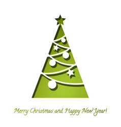 christmas tree papper background 3d vector image