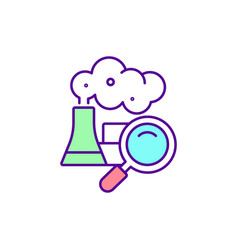 Controlling industrial pollution rgb color icon vector