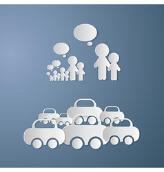Cut Paper People With Empty Speech Bubbles and vector