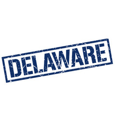Delaware blue square stamp vector