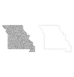Dot contour map of missouri state vector