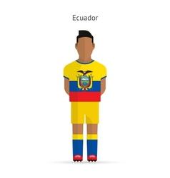 Ecuador football player soccer uniform vector