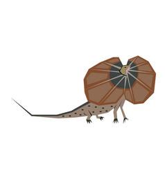 Frill lizard flat vector