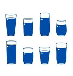 glass with beverage vector image