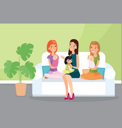 group mothers with their vector image