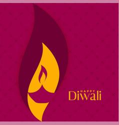Happy diwali creative diya design background vector