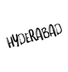 Hyderabad rubber stamp vector