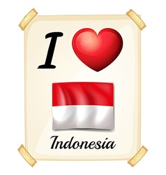 I love Indonesia vector image
