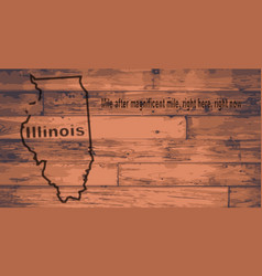 illinois map brand vector image