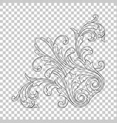 Isolate corner ornament vector