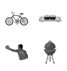 Metal business restaurant and other monochrome vector
