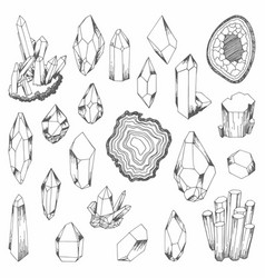 Minerals set of for design vector