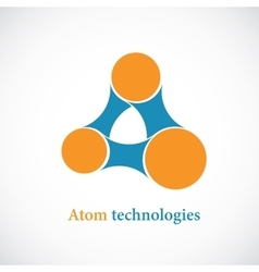 Molecule abstract icon vector image
