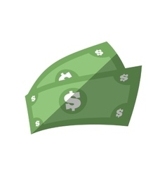Money bills dollar cash flat icon vector