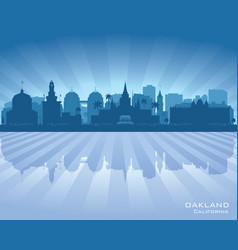 oakland california city skyline silhouette vector image