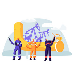 Oil and gas industry concept with man character vector