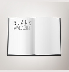 Open magazine spread blank double spread vector
