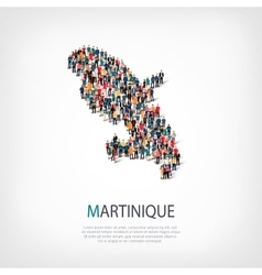 people map country Martinique vector image