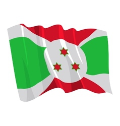 Political waving flag burundi vector