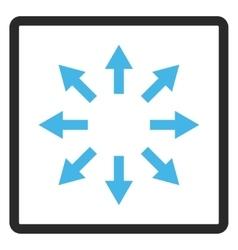 Radial Arrows Framed Icon vector