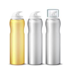 realistic spray can branding design vector image
