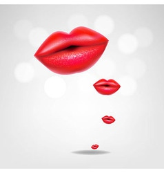 Red Lips Poster vector image