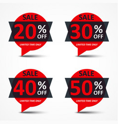 Sale discount tags vector