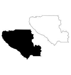 Santa clara county california map vector