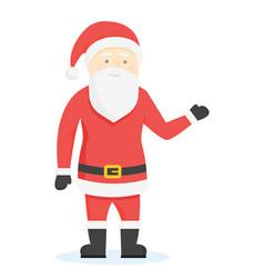 Santa claus cartoon style characters vector