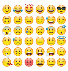 Set emoticons emoji vector