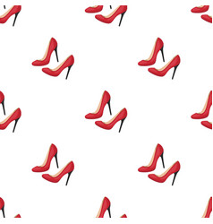 Shoes with stiletto heel icon in cartoon style vector