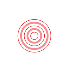 sign of pink and red rings vector image