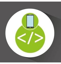 Smartphone app development coding vector