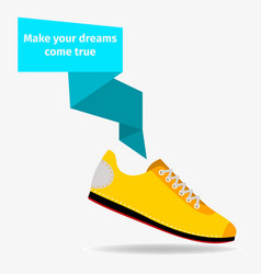 sport shoes concept vector image