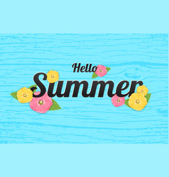 summer flowers background or summer floral design vector image