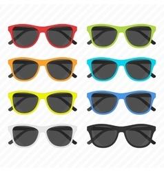 Sunglasses icon set vector