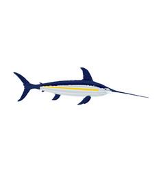 Swordfish isolated on white vector