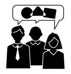 teamwork chat icon simple style vector image