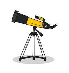 telescope on a white background vector image