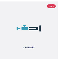 Two color spyglass icon from nautical concept vector