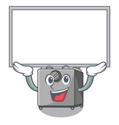 Up board cartoon deep fryer in the kitchen vector