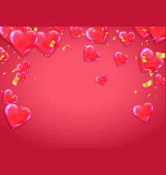 valentines day background on red cute love vector image