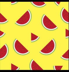 water melon seamless background vector image