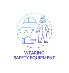 Wearing safety equipment concept icon vector