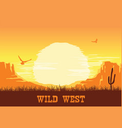 western american desert nature background vector image