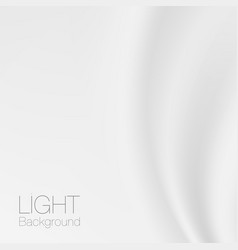 White fold fabric background gentle draping vector