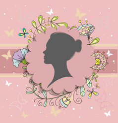 Women on pink background for happy women s day vector